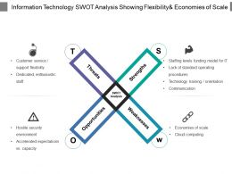 Information Technology Swot Analysis Showing Flexibilityand Economies Of Scale