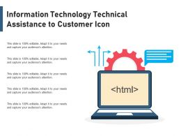 Information Technology Technical Assistance To Customer Icon