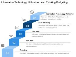 Information Technology Utilization Lean Thinking Budgeting Cash Flow Management