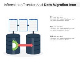 Information Transfer And Data Migration Icon