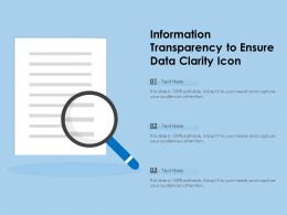 Information Transparency To Ensure Data Clarity Icon
