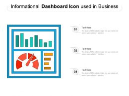 Informational Dashboard Icon Used In Business