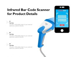 Infrared Bar Code Scanner For Product Details