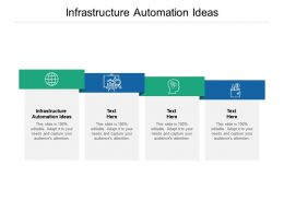 Infrastructure Automation Ideas Ppt Powerpoint Presentation Model Objects Cpb