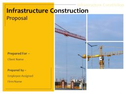Infrastructure Construction Proposal Powerpoint Presentation Slides