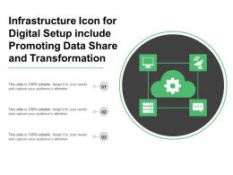 Infrastructure Icon For Digital Setup Include Promoting Data Share And Transformation