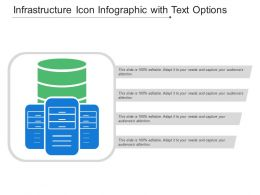Infrastructure Icon Infographic With Text Options
