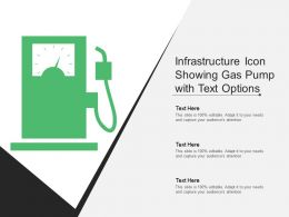 Infrastructure Icon Showing Gas Pump With Text Options