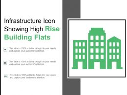 Infrastructure Icon Showing High Rise Building Flats