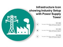Infrastructure Icon Showing Industry Setup With Power Supply Tower