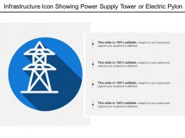 Infrastructure Icon Showing Power Supply Tower Or Electric Pylon