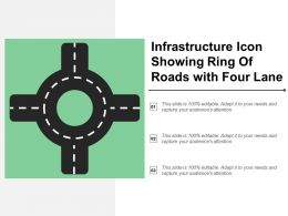 Infrastructure Icon Showing Ring Of Roads With Four Lane