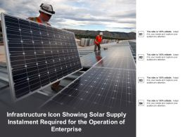 Infrastructure Icon Showing Solar Supply Instalment Required For The Operation Of Enterprise
