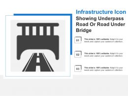 Infrastructure Icon Showing Underpass Road Or Road Under Bridge