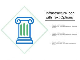 Infrastructure Icon With Text Options