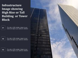 Infrastructure Image Showing High Rise Or Tall Building Or Tower Block