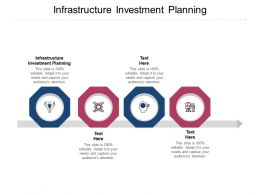 Infrastructure Investment Planning Ppt Powerpoint Presentation Ideas Guidelines Cpb