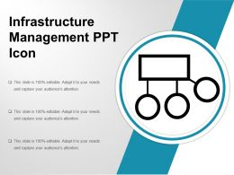 Infrastructure Management Ppt Icon