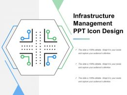 Infrastructure Management Ppt Icon Design