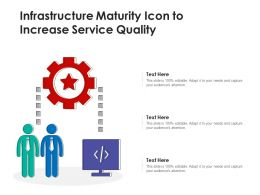 Infrastructure Maturity Icon To Increase Service Quality