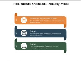 Infrastructure Operations Maturity Model Ppt Powerpoint Presentation Infographics Slide Portrait Cpb