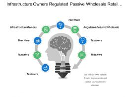 Infrastructure Owners Regulated Passive Wholesale Retail Service Providers