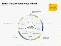 Infrastructure Resilience Wheel IT Operations Management Ppt Professional