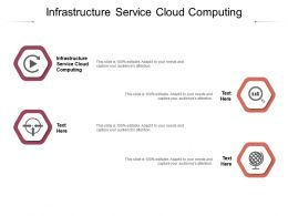Infrastructure Service Cloud Computing Ppt Powerpoint Presentation Professional Slides Cpb