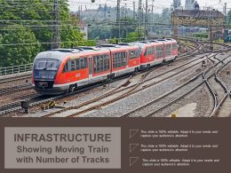 Infrastructure Showing Moving Train With Number Of Tracks