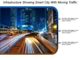 Infrastructure Showing Smart City With Moving Traffic