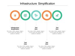 Infrastructure Simplification Ppt Powerpoint Presentation File Visual Aids Cpb