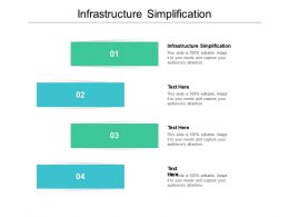 Infrastructure Simplification Ppt Powerpoint Presentation Professional Slideshow Cpb