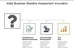 Initial Business Baseline Assessment Innovative Ways Raising Capital Cpb