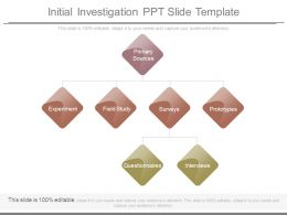Initial Investigation Ppt Slide Template
