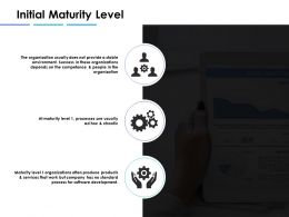 Initial Maturity Level Ppt Inspiration Example Introduction