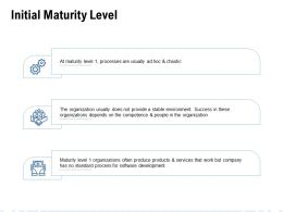 Initial Maturity Level Ppt Powerpoint Presentation Show Graphics