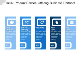 Initial Product Service Offering Business Partners Make Product Better