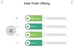 Initial Public Offering Ppt Powerpoint Presentation Slides Images Cpb