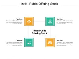 Initial Public Offering Stock Ppt Powerpoint Presentation Styles Format Ideas Cpb