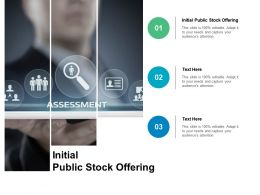 Initial Public Stock Offering Ppt Powerpoint Presentation Infographics Elements Cpb