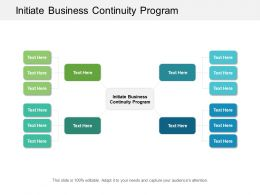 Initiate Business Continuity Program Ppt Powerpoint Presentation Slides Guide Cpb