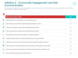 Initiative 2 Community Engagement And Risk Communication Ppt Powerpoint Presentation Ideas
