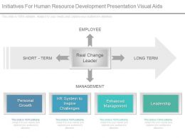 Initiatives For Human Resource Development Presentation Visual Aids