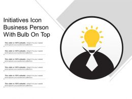 Initiatives Icon Business Person With Bulb On Top