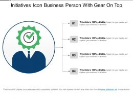 Initiatives Icon Business Person With Gear On Top
