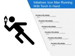 Initiatives Icon Man Running With Torch In Hand