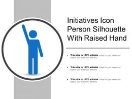 Initiatives Icon Person Silhouette With Raised Hand