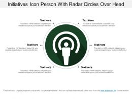 Initiatives Icon Person With Radar Circles Over Head