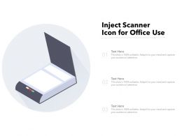 Inject Scanner Icon For Office Use