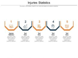 Injuries Statistics Ppt Powerpoint Presentation Infographic Template Visual Aids Cpb